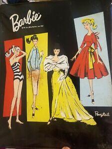 Vtg Barbie Midge 1961 Case, doll, flight,  hangers, umbrella, gown, necklace