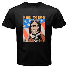 New Neil Young Old Concert Tour Logo Men's Black T-Shirt Size S-3XL
