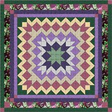 Quilt Kit/Heavenly Star/Mulberry Roses/Pre-cut Fabrics Ready To Sew/Queen