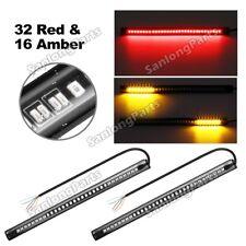 (2) 48 LED Motorcycle Motorbike Tail Brake Stop Turn Signal Flashing Strip Light