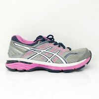 Asics Womens GT 2000 5 T757N Gray White Running Shoes Low Top Lace Up Size 6