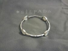 "SILPADA B2383 ""FOUR MOONS"" Mother of Pearl Bangle Bracelet $159 Mint Condition"