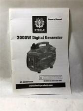 Steele Owner's Manual 200W Digital Generator