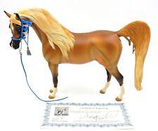 "RARE ""AISHA"" ARABIAN MARE CHESTNUT RESIN MODEL HORSE LERMOND / KEELING W/ COA"