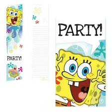 Spongebob Squarepants Birthday Party Invitations & Envelopes x 6