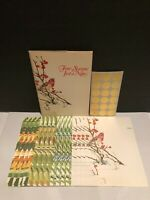 Vintage Current Four Seasons ~Just-a-Note~16 Count Cards 16 Seals