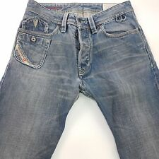 Diesel LUGGER Mens Jeans W29 L34 Blue Regular Fit Straight High Rise