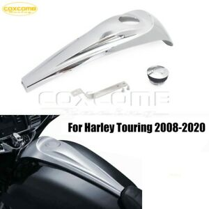 For 08-20 Harley Electra Road Glide Touring Dash Fuel Console Gas Tank Cap Cover