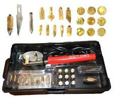 30W WOOD BURNING PEN SOLDERING SET PYROGRAPHY TOOL KIT WITH TIPS + STAND