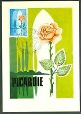 CARTES 1ER JOUR MAXIMUM SERIE DES REGIONS  PICARDIE  15/11 /1975  N° 43