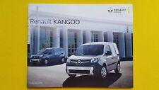 Renault Kangoo Formula Edition Crew sales brochure catalogue February 2018 MINT