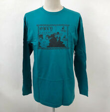 Obey Men's LS T-Shirt Obey Yourself Teal Size L NWT Marilyn Rondon Heart Chain