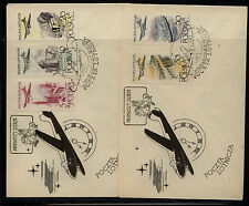 Poland   2  airmail  cachet  first day covers                 KEL0418