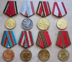 LOT 8 VARIOUS RUSSIAN USSR WWII VETERAN, ARMY SERVICE & LABOUR MEDALS