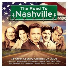 Road to Nashville (Johnny Cash, Jim Reeves, Patsy Cline,...) 3 CD NUOVO