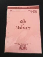 Organiser/Filofax MULBERRY PLANNER PINK PLAIN 25 SHEET PACK 210x150mm-SEALED