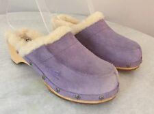 Ugg Austrailia Kalie 5243 Sherling Lined Clogs Purple Girls Size 2