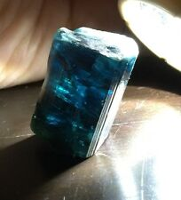 81.5Ct~ Facet Quality Large Gem Indicolite Blue Tourmaline Crystal ~ Afghanistan