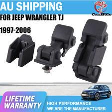 Hood Latch Catch & Brackets Pair For Jeep Wrangler TJ 1997-2006 Model 2pcs / Set