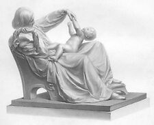 MOTHER & CUTE BABY TODDLER SON PLAY IN CHAIR  ~ Antique 1869 Art Print Engraving