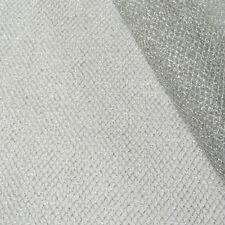 Tüll Gitterstoff silberfarbig Glitzer 1,4m Breite