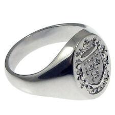 Markenlose Unisex Ringe im Siegelring-Stil aus echtem Edelmetall ohne Steine