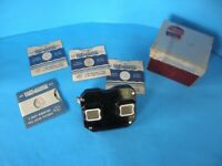 VINTAGE SAWYER'S VIEW MASTER VIEWER WITH ORIGINAL BOX & 4 VIEW MASTER REELS
