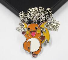 Men Anime Pokémon Pocket Monster Raichu Necklace+Box Cosplay Otaku Pendant Gifts