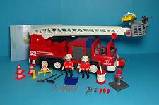 Playmobil Rettung/Rescue~Feuerwehrleiterfahrzeug/Ladder Unit 52(3879)& Anleitung
