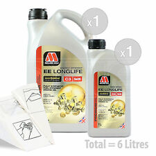 Car Engine Oil Service Kit / Pack 6 LITRES Millers NANODRIVE EE 5w-30 C3 6L