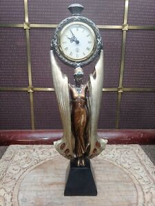 Beautiful Art Deco Style Woman Godess Figurine Clock, Design influenced by Erte