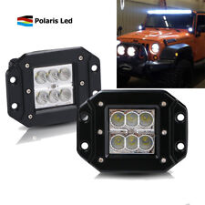 2x 3INCH LED OFFROAD LIGHT BAR 3X3 4WD FLOOD BUMPER PODS FOG LAMP SQUARE