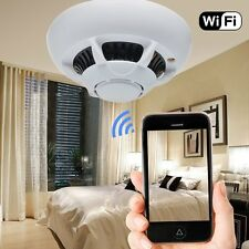 New HD Hidden Surveillance SPY Camera UFO WiFi Smoke Detector Video Recorder