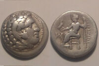 Rare Ancient Greek silver coin Alexander Macedonia Miletos 323BC Heracles/Zeus