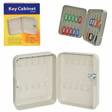 Wall-Mount Key Cabinet 20 Keys Hold Safe Beige Colour Quality Metal Locking Case