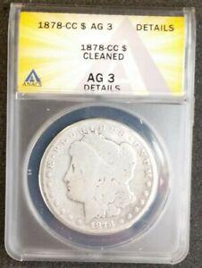 1878-CC ANACS AG3 Details -Morgan Silver Dollar