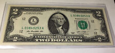 $2 Bill With Washington Face - Real Money!