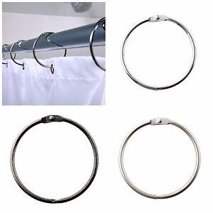 Round Shower Curtain Rings: Brushed Nickel, Bronze & Chrome Shower Rings