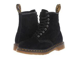 NIB Dr. Martens Unisex 1460 Soft Buck Combat Boot 8 Eyes Black Leather M10/W11