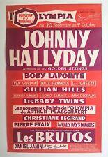 JOHNNY HALLYDAY – AFFICHE ORIGINALE DE SON 1er CONCERT À L'OLYMPIA – RARE -1961