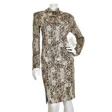St John Couture 2Pc Himalayan Brown Animal Print Novelty Knit Top & Skirt Set 6