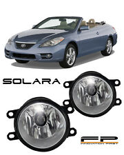 2007-2010 Toyota Solara Clear Lens Replacement Fog Light Housing Assembly Pair