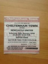 MATCH TICKET- CHELTENHAM TOWN v NEWCASTLE UNITED FA Cup Round 4 2005/6