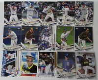 2017 Topps Update Padres Master Team Set of 15 Baseball Cards W/ SP Variations