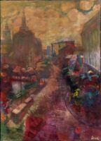 """Ukrainischer Expressionist M. Deyak Öl Leinwand """"Akt"""" 130 x 95 cm"""