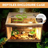 Large Wooden Reptiles Enclosure Cage Lizard Frog Snake Turtle Tank 60X40X40cm