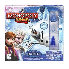 Disney Monopoly Junior Board Game Frozen Edition Anna Elsa Elsa Games for Kids