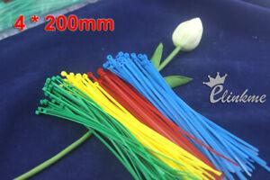 200pcs/bag,200mm X 4mm Locking Nylon Cable Wire Zip Ties/ Self Locking