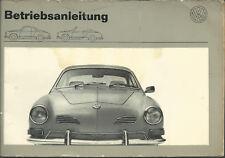 VW KARMANN GHIA Betriebsanleitung 1973 CABRIOLET Coupe Bedienungsanleitung BA
