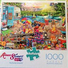 Aimee Stewart THE FAMILY CAMPSITE 1000 piece Puzzle Buffalo Games New